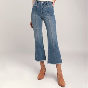 AMUSE SOCIETY Flying High Seamed Wide Leg Jeans
